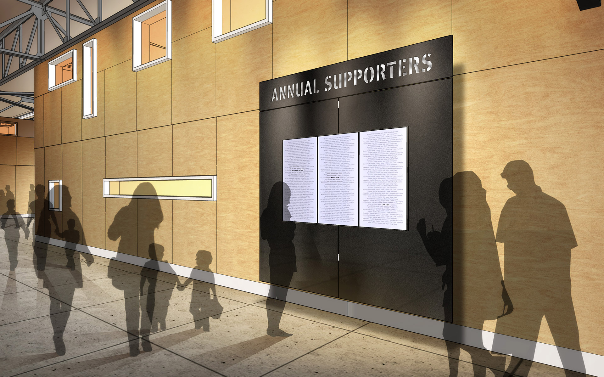 Exploratorium Annual Supporters Wall