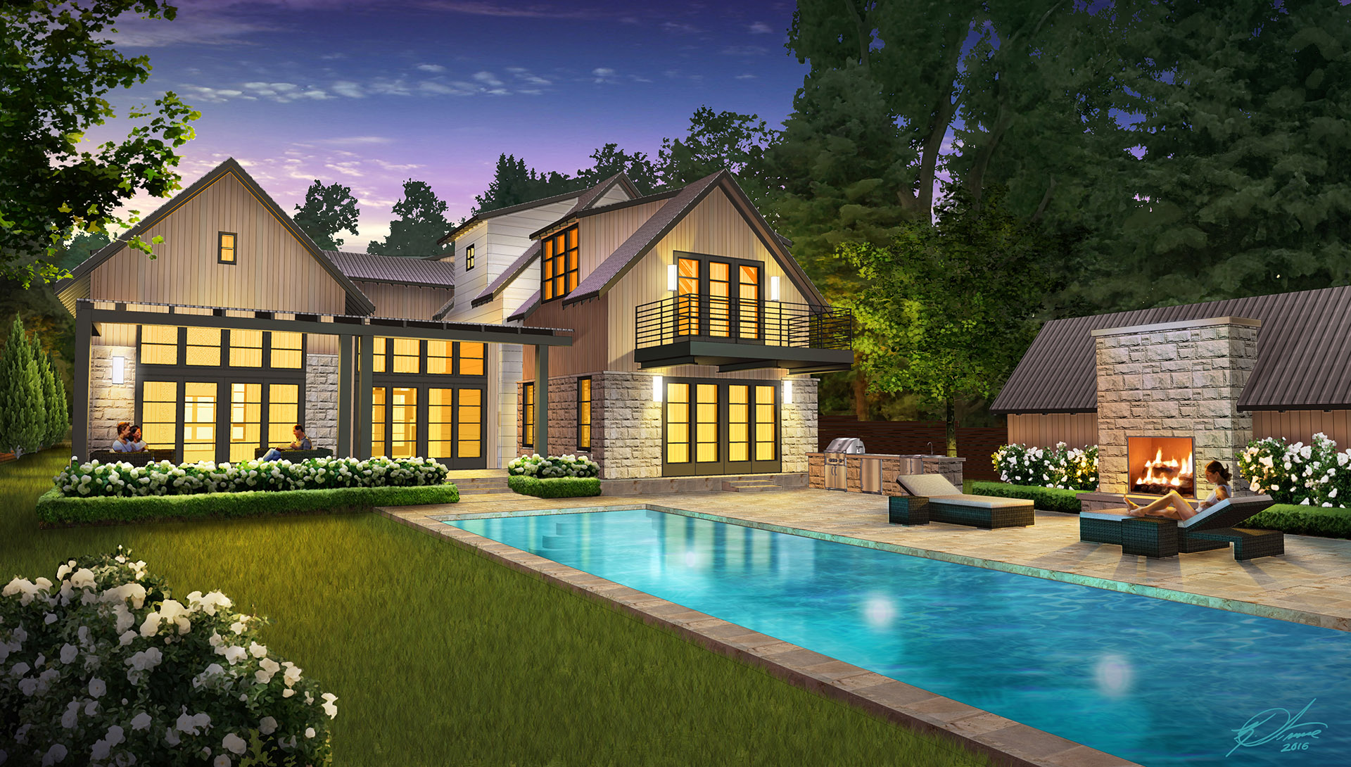 Custom Home Rendering PROJECT PAGE
