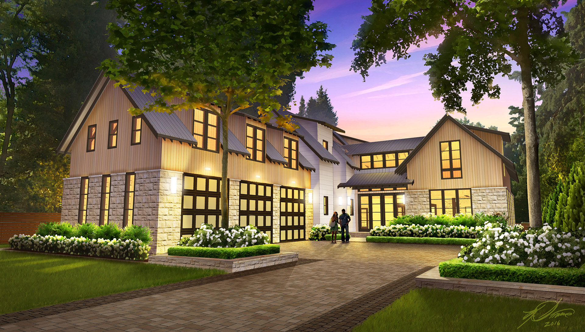 Custom Home Front View