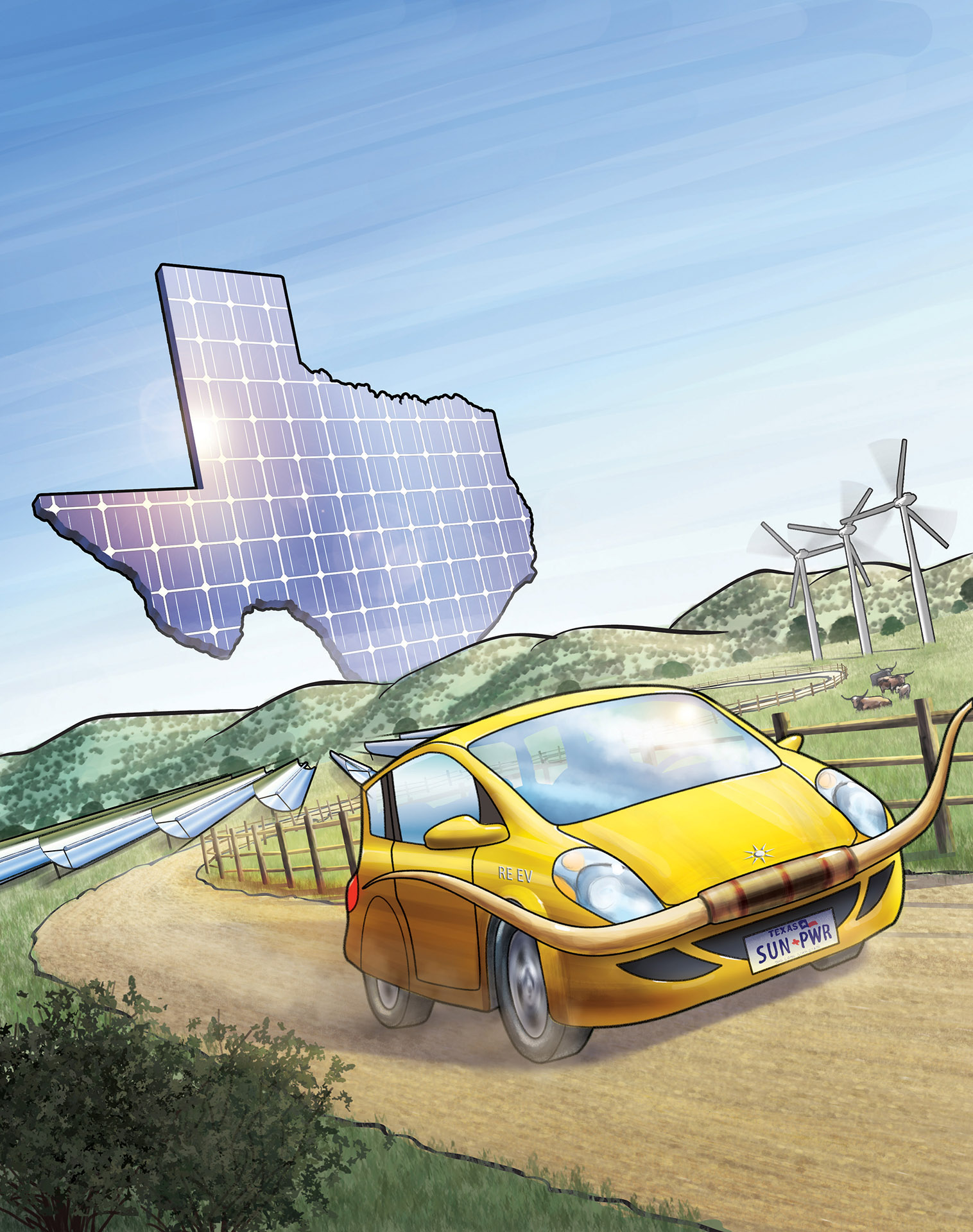Solar Power in Texas Magazine Cover