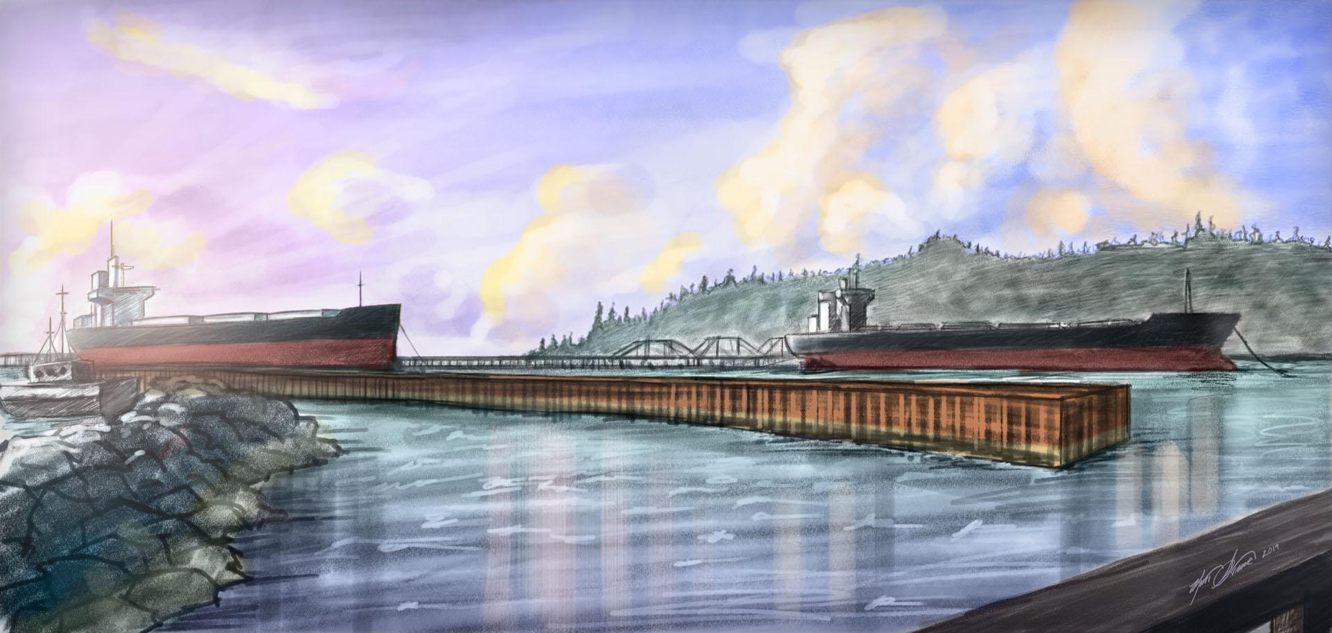 Astoria East Mooring Basin Illustration