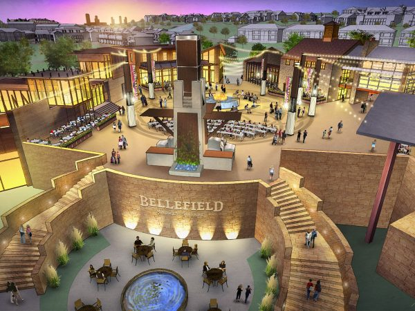 Rendering of Bellefield Market Square
