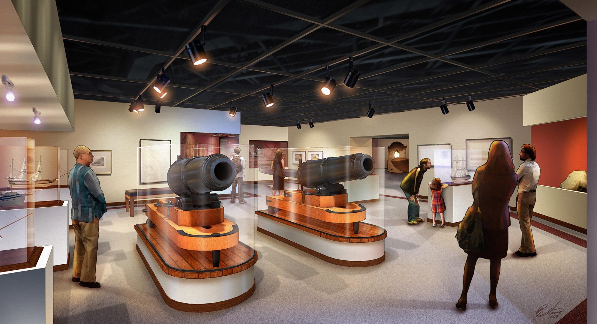 Columbia River Maritime Museum - Cannon Exhibit
