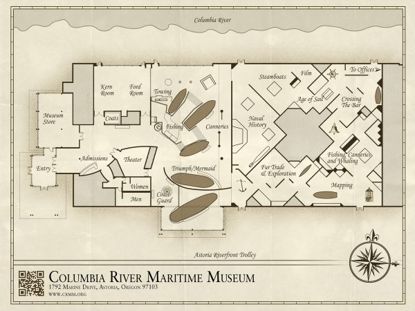 Columbia River Maritime Museum Visitor's Map by Kurt Struve